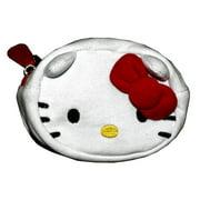 Hello Kitty Red Bow Tie Cute White Fleece Coin Purse Bag