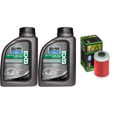 Premium synthetic engine oil 10w 50 change kit for atv for Synthetic motor oil change