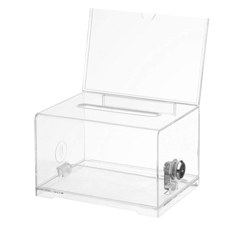 Acrylic Donation & Ballot Box w lock