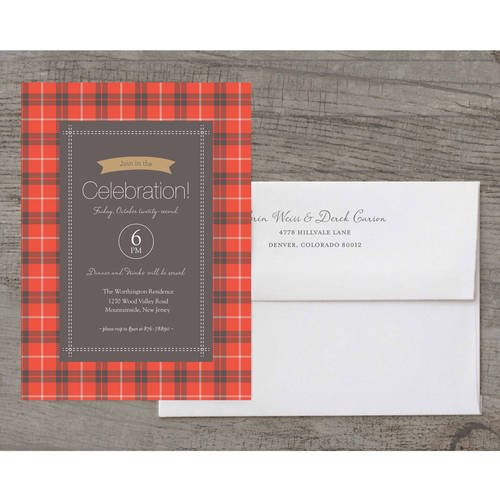 Plaid Celebration Deluxe Holiday Card