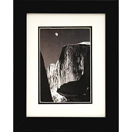 Professionally Framed Moon and Half Dome by Ansel Adams Black & White Photograph 8x10 Famous Photographer GREAT ART ()