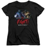 Mortal Kombat X Fight Womens Short Sleeve Shirt