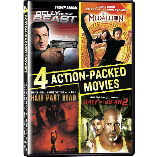 4 Action-Packed Movies Collection: Belly Of The Beast / Half Past Dead / Half Past Dead 2 / The Medallion (Widescreen)