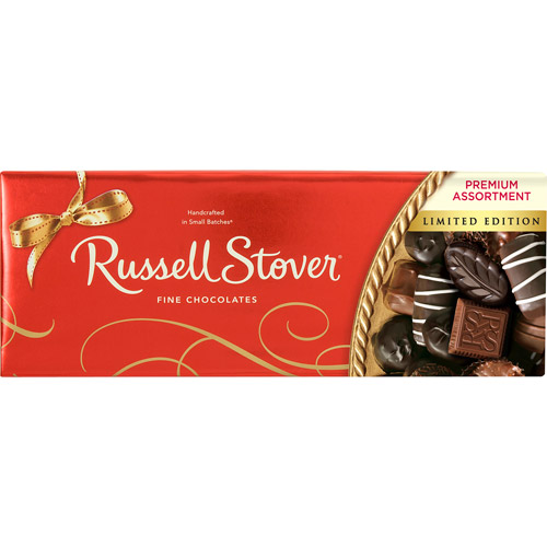 Russell Stover Premium Assortment Selection of Milk & Dark Chocolates, 12 oz