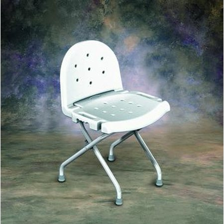 Folding Shower Chair with Back - Retail - 1 (Best Folding Showers)