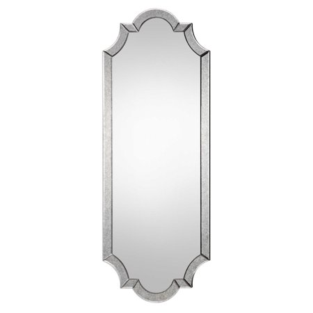 """64"""" Antique Hand Beveled Curve Style Mirror"""
