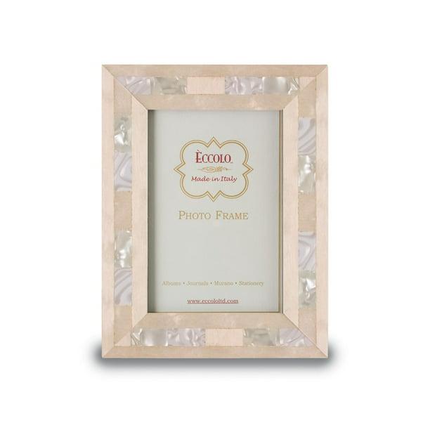 Eccolo Opalescent Wedding Wood Frame 4 By 6 Inch Walmart Com Walmart Com