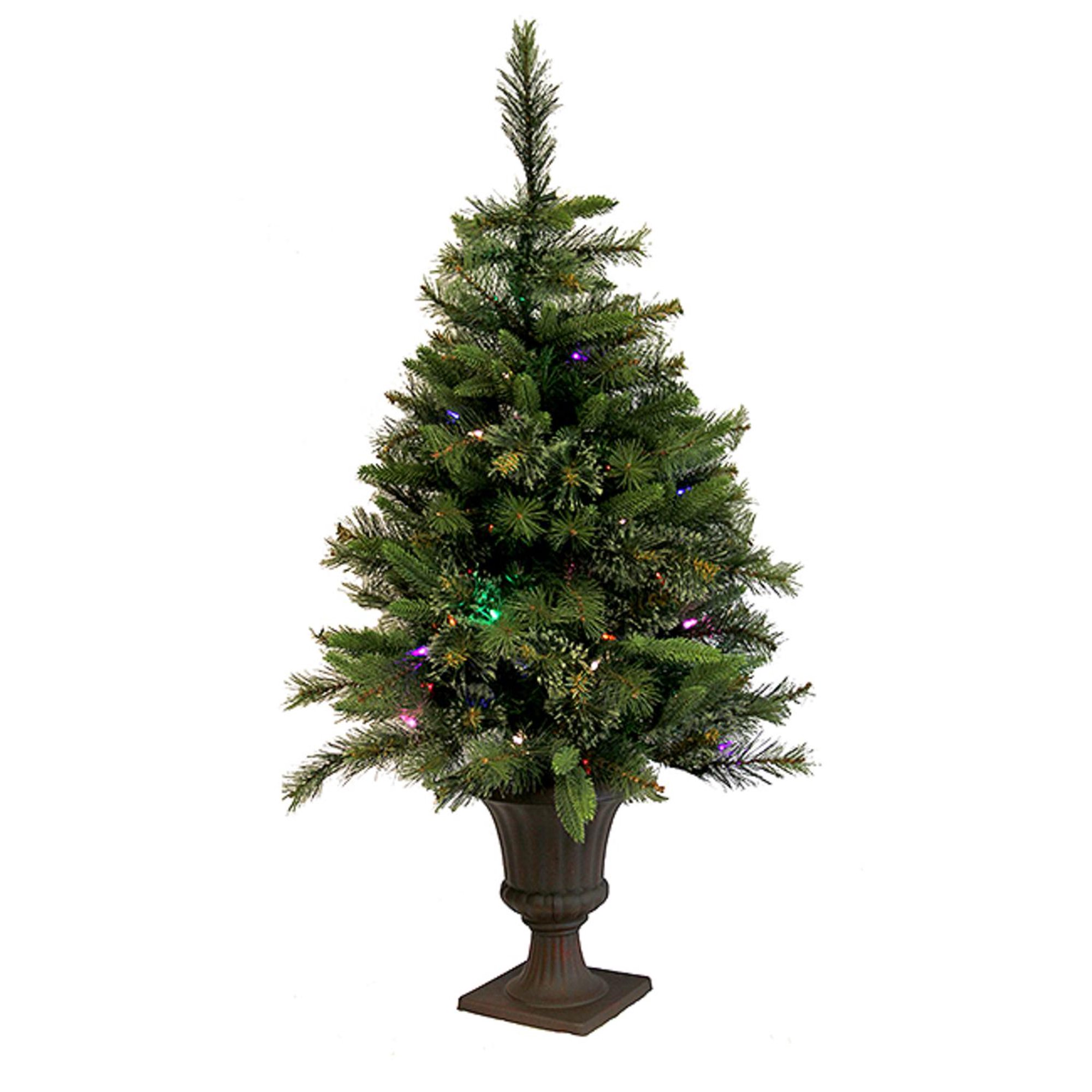 Pre Lit Outdoor Christmas Trees Battery Operated.3 5 Pre Lit Battery Operated Cashmere Potted Christmas Tree Multi Led Lights