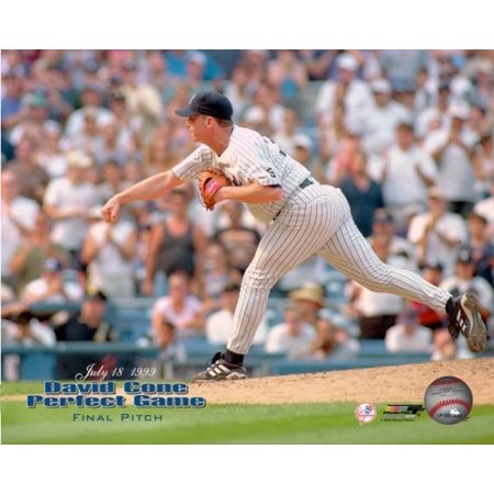 David Cones Final Pitch Of His Perfect Game Against The Montreal Expos At Yankee Stadium July 18 1999 Photo Print