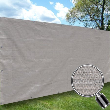 Alion Home Smoke Grey Elegant Privacy Screen For Backyard Deck, Patio, Balcony, Fence, Pool, Porch, Railing. No Black Trim  6' x (Building A Screened Porch On A Deck)