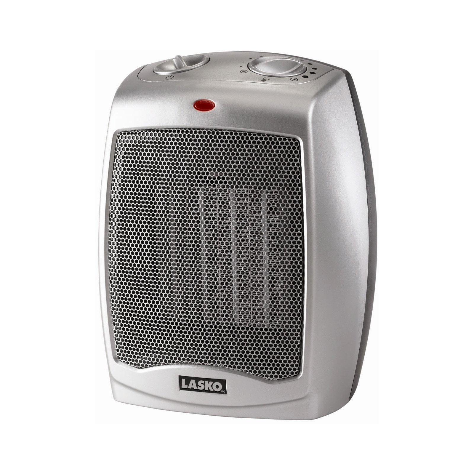 Lasko Electric Ceramic 1500W Heater, Silver Black, 754200 by Lasko Products