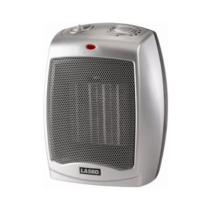 Lasko Electric Ceramic 1500W Heater, Silver|Black,  754200