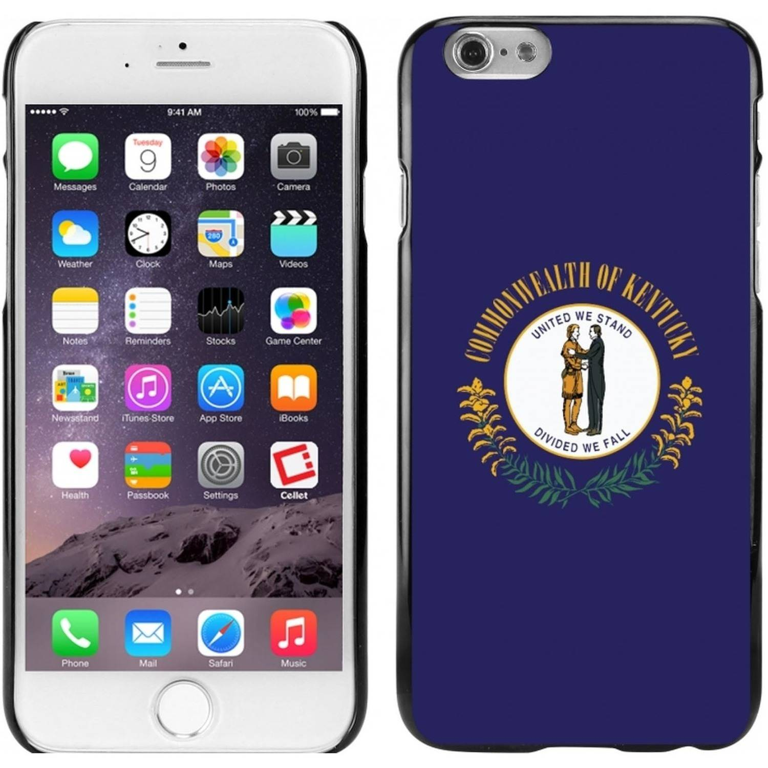 Cellet Black Proguard Case with Kentucky Flag for Apple iPhone 6