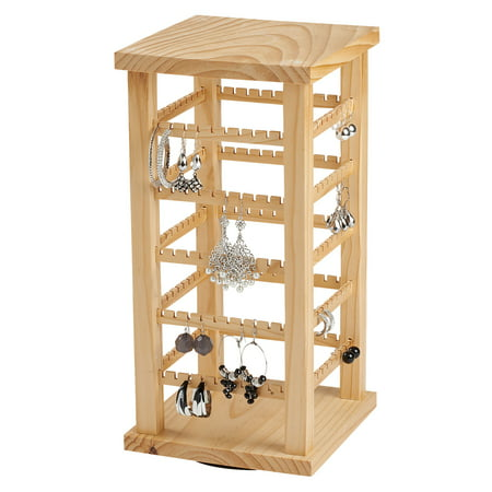 Earring Display - Wood Display Carousel - Rotating