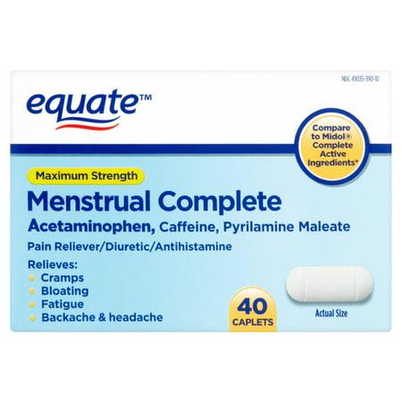 equate Force maximale menstruelles Caplets complète, 40 count