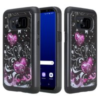 Galaxy S8 Case, SOGA [Jewel Gem Series] Slim Diamond Bling Hybrid Protective Case Cover for Samsung Galaxy S8 - Rainbow flower