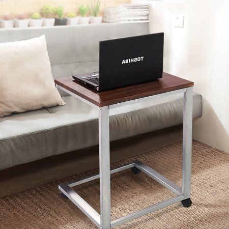 Costway Coffee Tray Sofa Side End Table Lap Stand Tv Snack Ottoman Couch Room Rolling