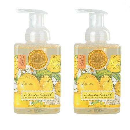 Michel Design Works Foaming Hand Soap 2 Pack Lemon Basil Unisex Hand Soap