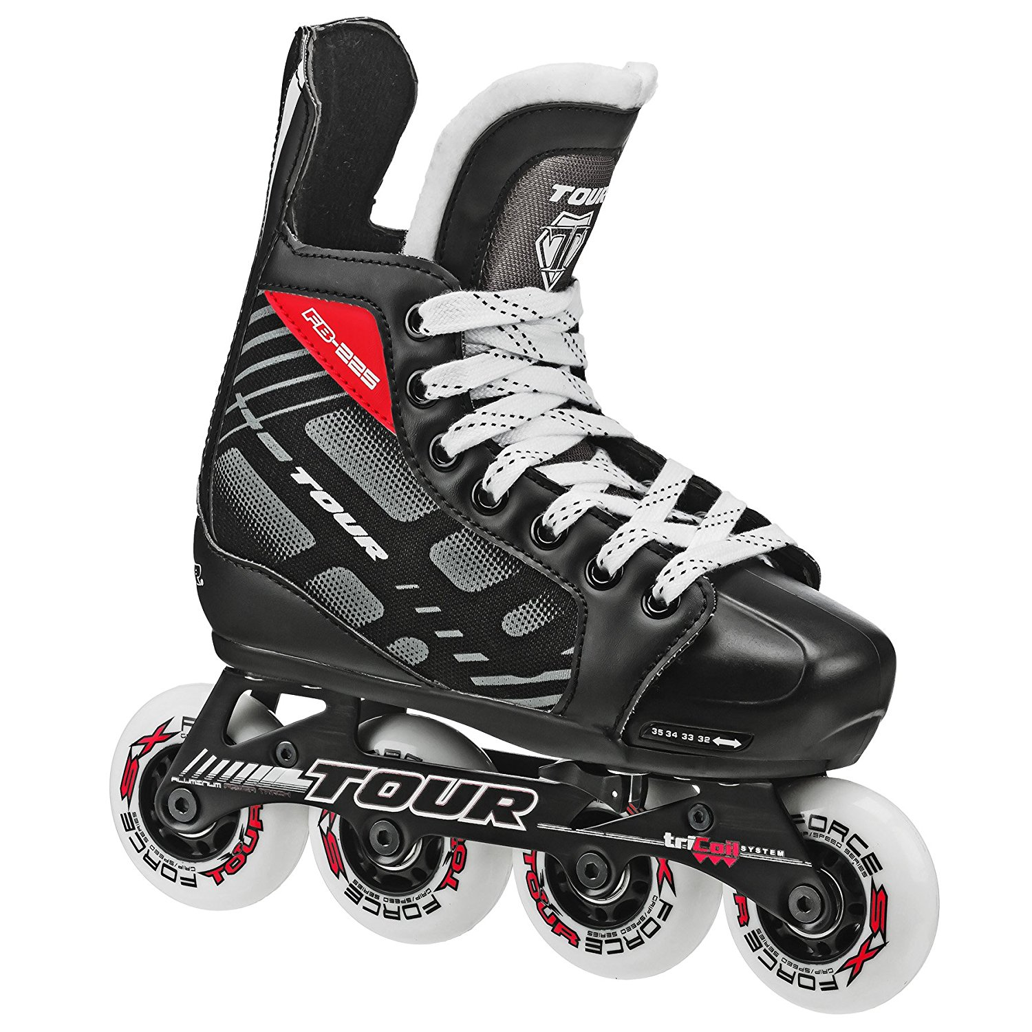 Click here to buy Hockey 38TY-M FB-225 Adjustable Inline Hockey Skate ( Size 1-4 ), FB 225 Youth skate has Adjustable sizing with....