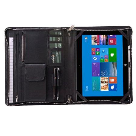 the latest 0924b 13e77 iPad Pro Leather Portfolio Case, Padfolio Folder Organizer with Zipper for  iPad Pro 10.5-inch