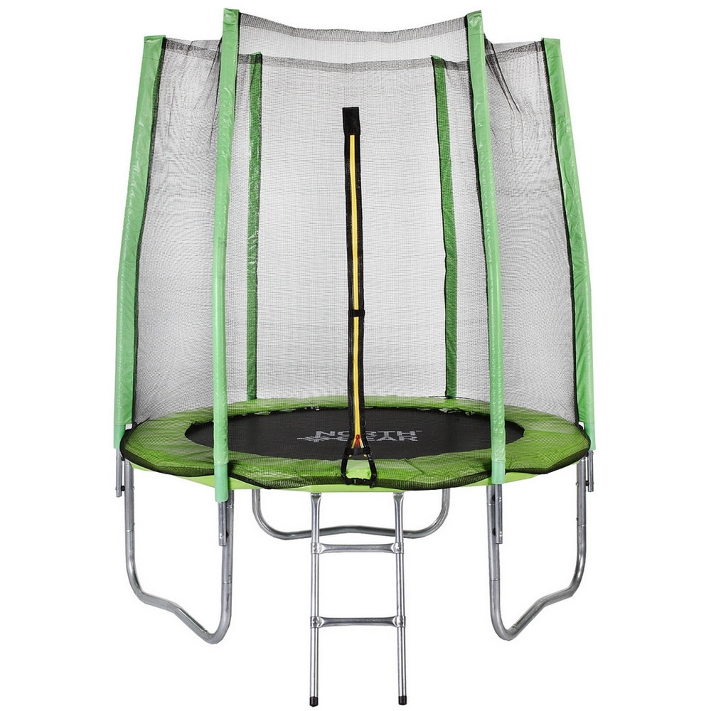 North Gear 6 Foot Trampoline Set with Safety Enclosure and Ladder