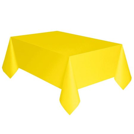 Plastic Tablecover 54 x 108 in. - Neon Yellow - Neon Table Covers