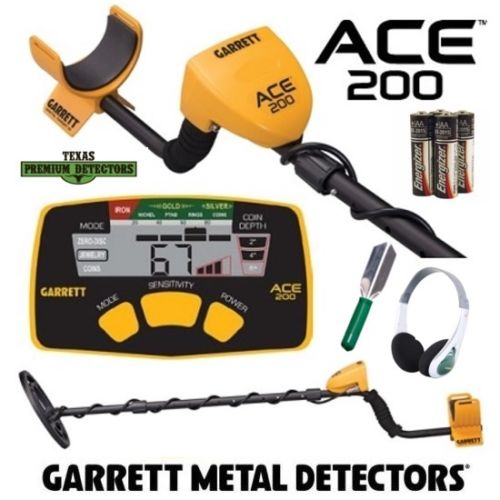Garrett Ace 200 Metal Detector With Accessory Bundle Package
