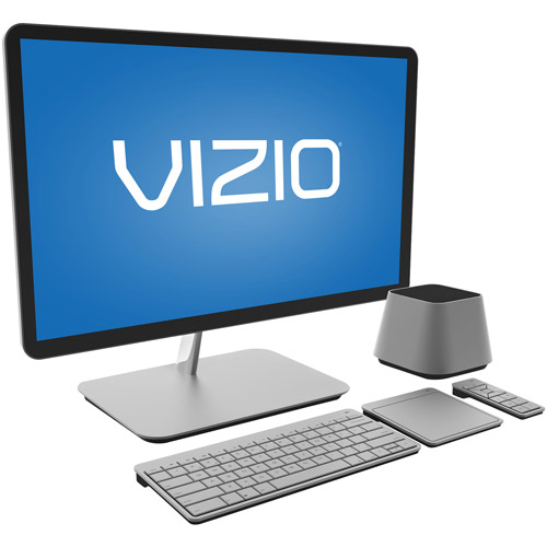 "VIZIO Silver 24"" CA24-A0 All-in-One Desktop PC with Intel Core i3-3110M Processor with 24"" HD Monitor and Windows 7 Home Premium with Windows 8 Pro Upgrade Option"