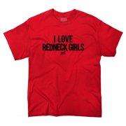 Love Redneck Girl Funny Shirt Country Hick Cowboy Luke Bryan T-Shirt Tee