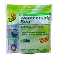 3-Pack Duck Brand Weatherstrip Seal for Extra-Large Gaps
