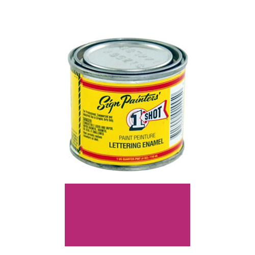 1/4 Pint 1 Shot DARK MAGENTA Paint Lettering Enamel Pinstriping & Graphic Art