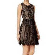 Tommy Hilfiger NEW Black Womens Size 10 Lace Fit & Flare Sheath Dress