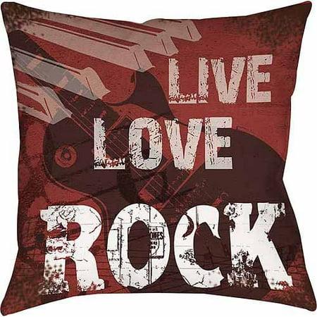 IDG Live Love Rock Indoor Pillow ()