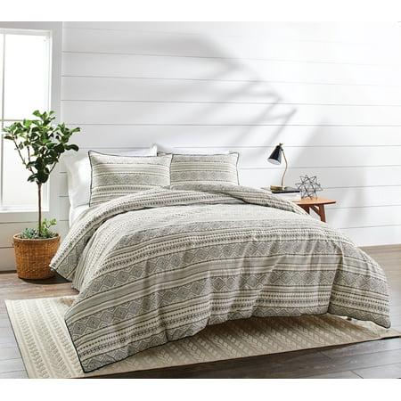 Better Homes & Gardens Full or Queen Textured Stripe Comforter Set, 3 Piece