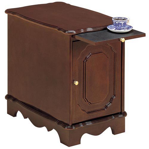 Powell Heirloom Cherry Magazine End Table with Slide Out Tray