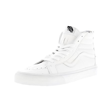 021107d1e5 Vans - Vans Men s Sk8-Hi Reissue Zip Premium Leather True White   Black Mid- Top Fashion Sneaker - 12M - Walmart.com