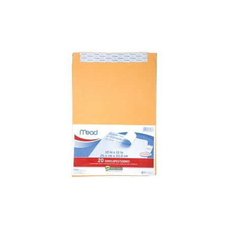 Mead Press-It Seal-It Envelopes - Office Pak Brown Kraft 10