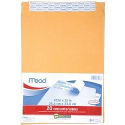 "Mead Press-It Seal-It Envelopes - Office Pak Brown Kraft 10"" x 13"""