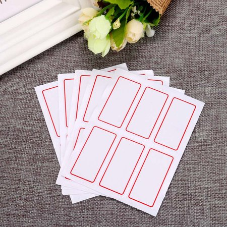12 Sheets White Price Stickers Self Adhesive Labels Blank Name Number - Blank Name Tags