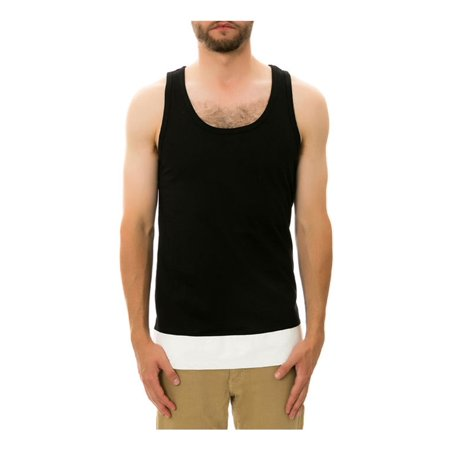 Leather Top Panel (DOPE Mens The Leather Paneled Tank)