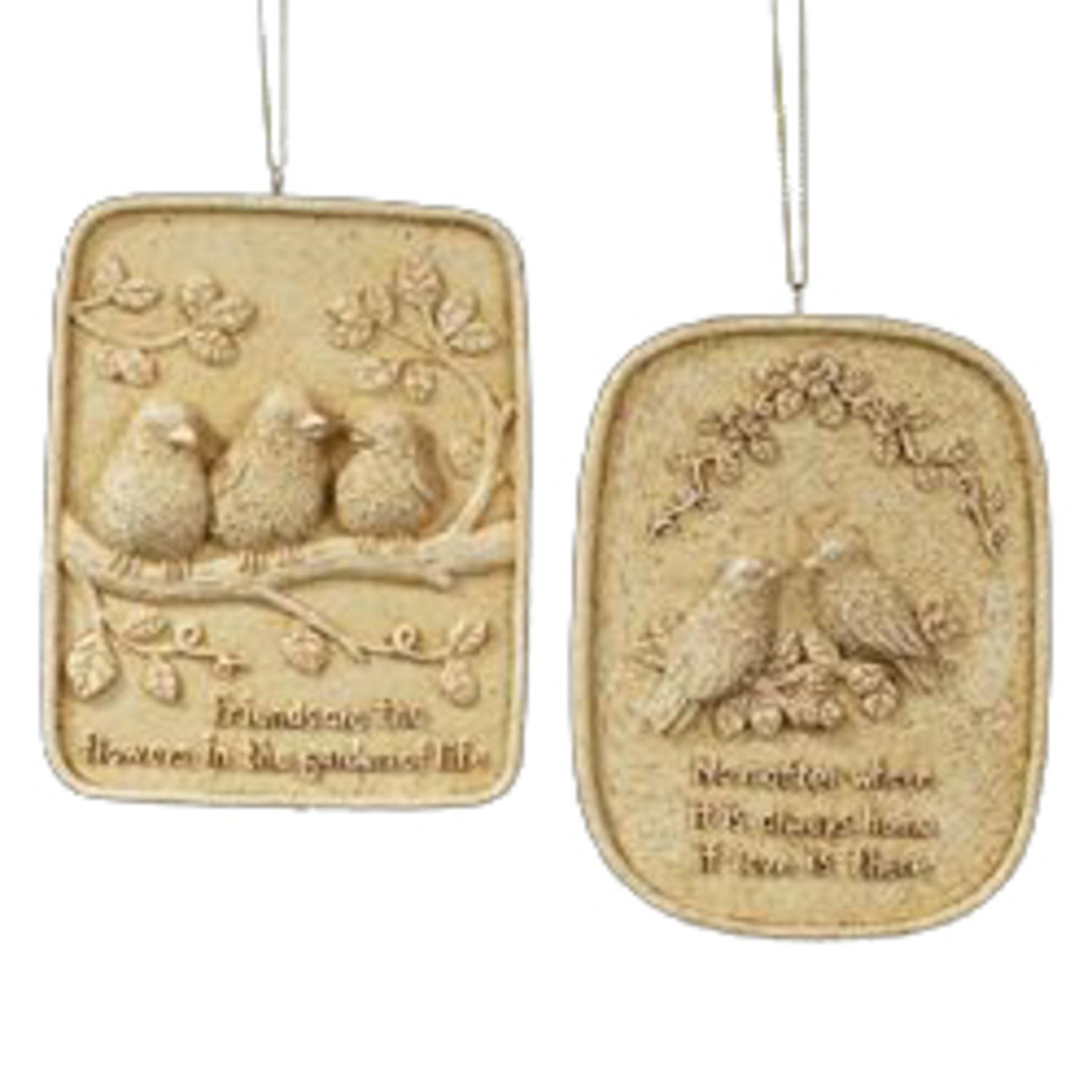 Club Pack of 12 Inspirational Sign Christmas Ornaments 4""