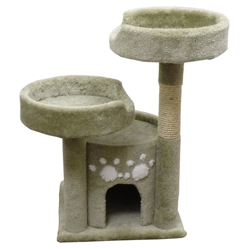 New Cat Condos 35'' Premier Double Perch Solid Wood Cat Condo