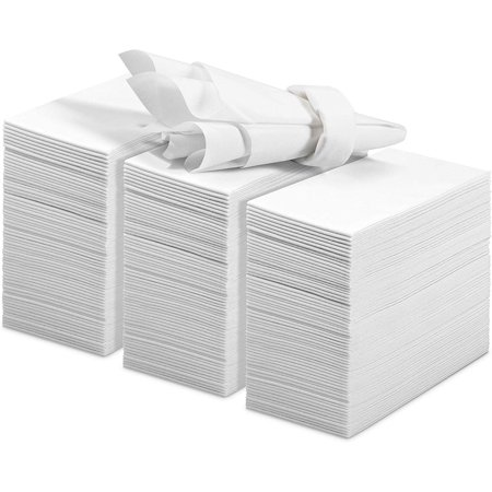 Decorative Disposable Hand Towels (200 Linen Feel Guest Towels Disposable Cloth Like Hand Napkins Soft and Absorbent Paper Hand Towels for Kitchen, Bathroom, Parties, Weddings, Dinners or Events)