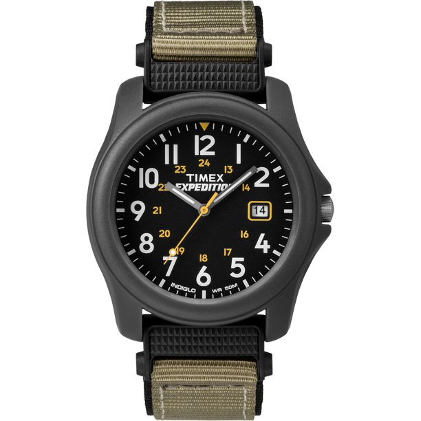 Men's Expedition Camper Watch, Gray Nylon Strap