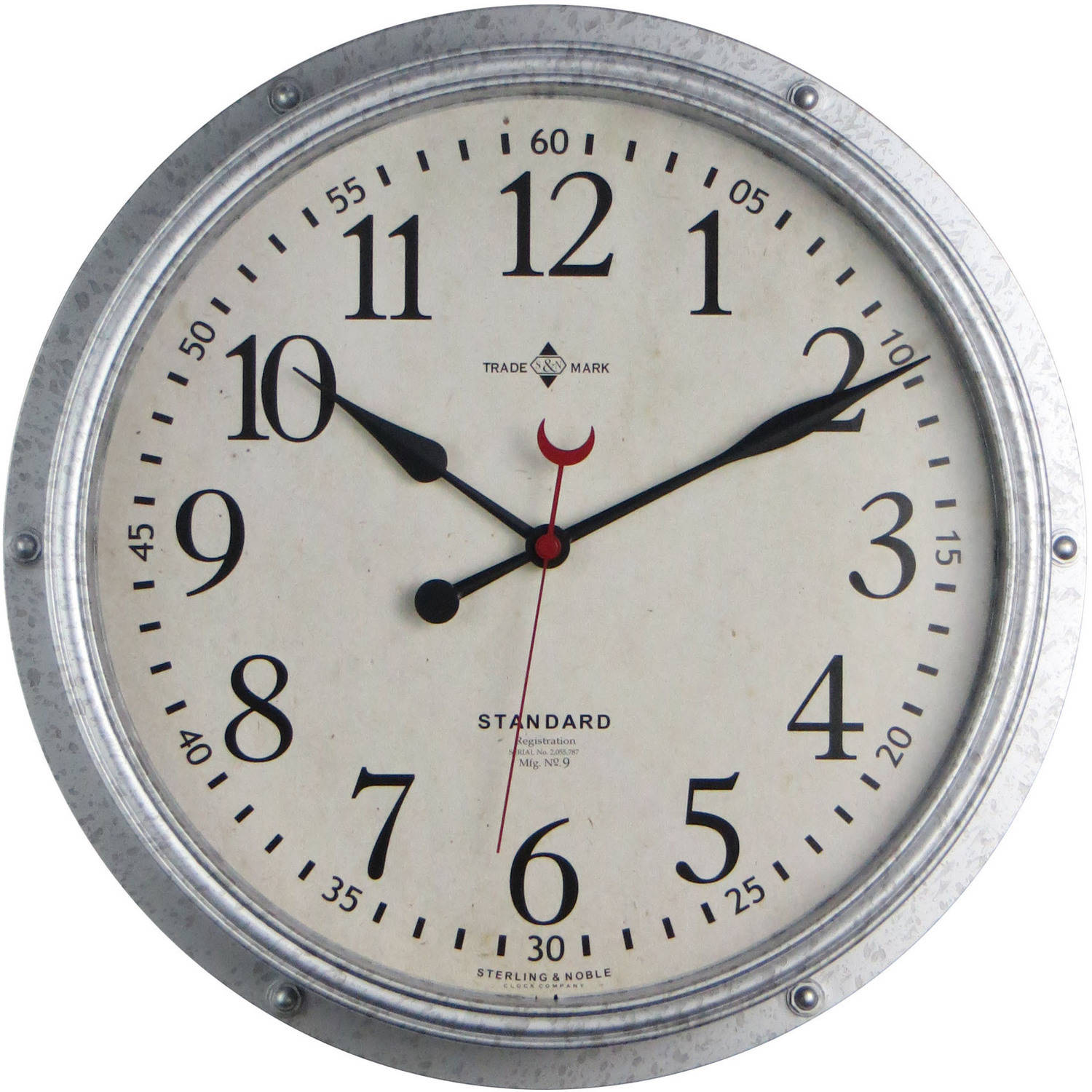 Superb Better Homes And Gardens Galvanized Wall Clock
