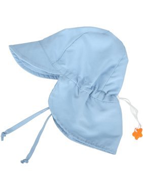 UPF 50+ UV Ray Sun Protection Baby Hat w/Neck Flap,Light Blue,2-4 Y