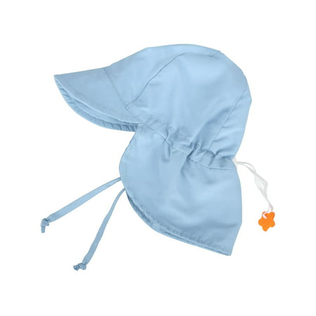 UPF 50+ UV Ray Sun Protection Baby Hat w/Neck Flap,Light Blue,2-4 Y](Baby Blue Top Hat)