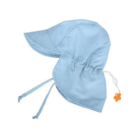 UPF 50+ UV Ray Sun Protection Baby Hat w/Neck Flap,Light Blue,2-4 (Best Baby Sun Hat)