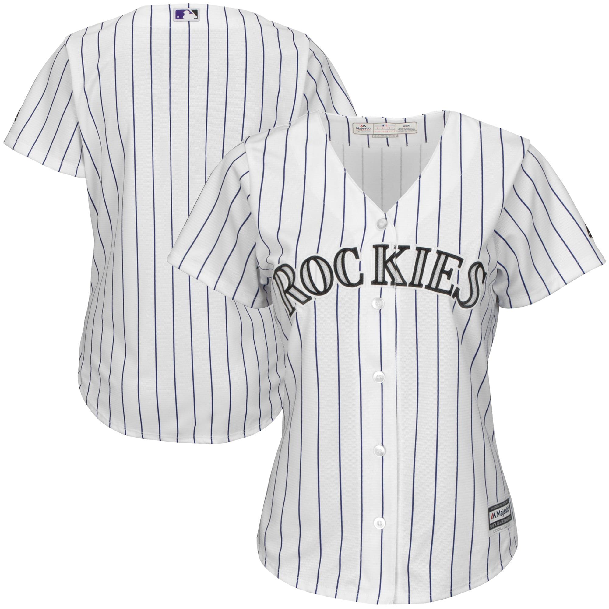 Colorado Rockies Majestic Women's Home Cool Base Team Jersey - White/Purple