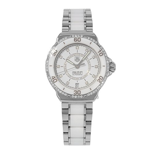 Tag Heuer Formula 1 Diamond Automatic Steel and White Cer...